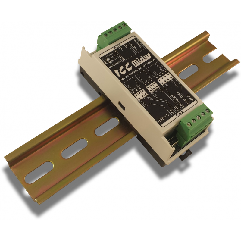 Mirius - Serial & I/O Gateway | RS-485 RS-232 TTL UART I/O - ICC