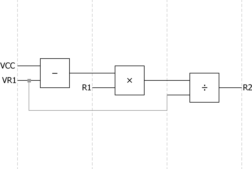 R2 Measurement, R1 Fixed Sequenced Logic Diagram
